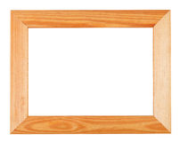 Wide simple wooden picture frame Royalty Free Stock Photos