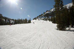 Wide Ski Track Royalty Free Stock Photography