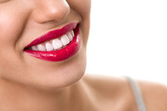 Wide smile with healthy teeth Royalty Free Stock Photos