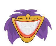 Wide smile illustration. Vector illustration of a wide smile Stock Photography