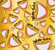 Wide smile pattern. Vector illustration of a wide smile pattern Stock Photography