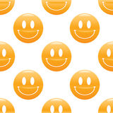Wide smiling emoticon pattern Stock Photo