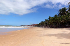Wide space of tropical beach Royalty Free Stock Images