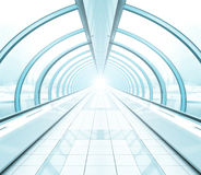 Wide spacious corridor Royalty Free Stock Photography