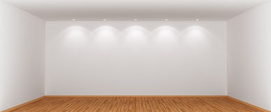 Wide and spacious empty room. Royalty Free Stock Photos