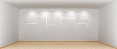 Wide and spacious empty room Royalty Free Stock Photos