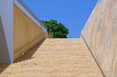 Wide stone staircase in Valletta Stock Photography