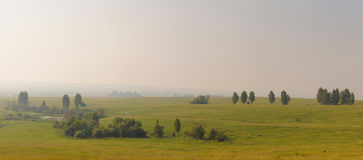 Wide summer panoramic landscape Royalty Free Stock Image