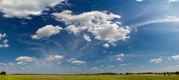 Wide summer sky panorama Stock Photos