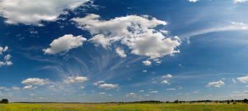 Wide summer sky panorama. Wide summer blue sky panorama Stock Photos