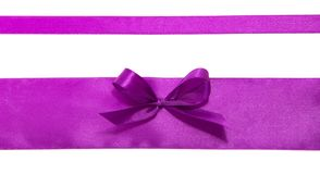 Wide tape with a bow Stock Photography