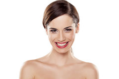 Wide teeth smile Royalty Free Stock Images