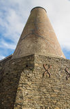 Wide then tapering chimney – malt kiln. Royalty Free Stock Photography