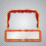 Wide transparent stage Royalty Free Stock Photography