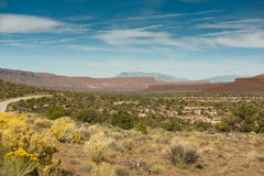 Wide Utah Desert Landscape Stock Photography