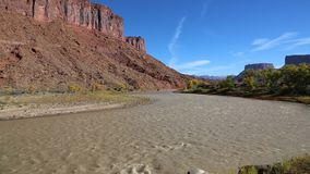 Wide valley of Colorado River stock video footage