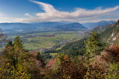 Wide valley in the fall Stock Images