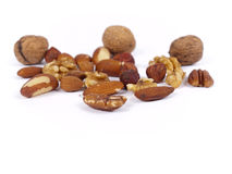 Wide variety of nuts Stock Image