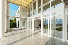 Wide veranda of a modern house Stock Image