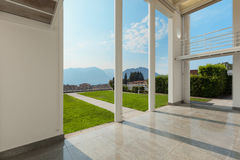 Wide veranda of a modern house Stock Images