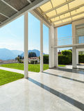 Wide veranda of a modern house Royalty Free Stock Photography