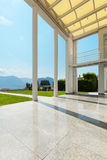 Wide veranda of a modern house Royalty Free Stock Images