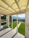 Wide veranda of a modern house Stock Photography