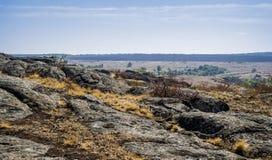 A canyon stones. Wide view of Aktovskiy Canyon, Nikolaev region, Ukraine Royalty Free Stock Images