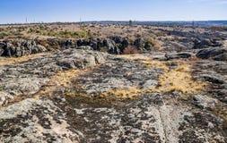 Wide quarry wiev. Wide view of Aktovskiy Canyon, Nikolaev region, Ukraine Stock Photos