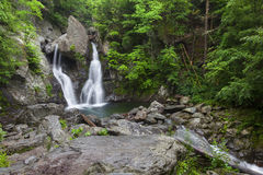 Wide View of Bash Bish Falls II royalty free stock images