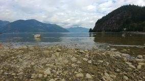 Porteau Cove Landscape. The wide view of the beach from Portray Cove Provincial Park Royalty Free Stock Images