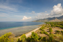 Wide view on the beach. And sea on holiday Royalty Free Stock Photos