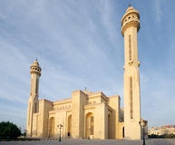 A wide view of beautiful Al Fateh Mosque Bahrain Royalty Free Stock Photography
