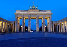 Wide View Brandenburg Gate. The Brandenburg Gate (German: Brandenburger Tor) is a former city gate and one of the main symbols of Berlin and Germany Royalty Free Stock Photos