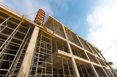 Wide view of building under construction Royalty Free Stock Photos