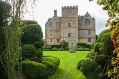Wide view of Chastleton House, Oxfordshire. From the gardens Royalty Free Stock Photos