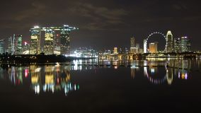 Wide view of cityscape by Marina Bay Stock Photos