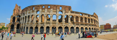 Wide View Of  ColiSeum In Rome Stock Photos