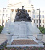 Wide view of Confederate Mothers Statue, Jackson, Mississippi Royalty Free Stock Photo
