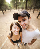 Wide view on couple Royalty Free Stock Photography