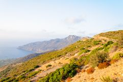 Wide view of a Cretan landscape, island of Crete, Greece Stock Photo