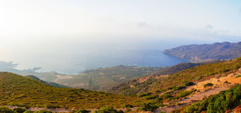Wide view of a Cretan landscape, island of Crete, Greece Stock Images