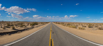 Wide View Desert Road Royalty Free Stock Photo