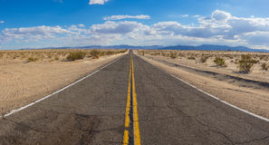 Wide View of Desert Road Royalty Free Stock Photo