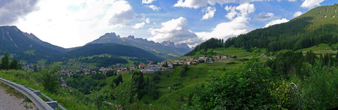 Wide view of Dolomiti Royalty Free Stock Image