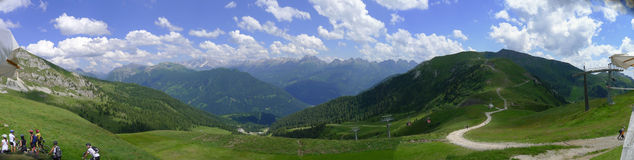 Wide view of Dolomiti Royalty Free Stock Images