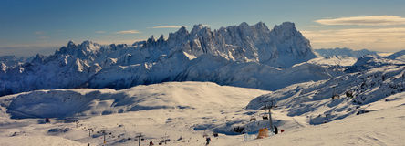 Wide view of Dolomiti. Some views of Dolomiti Alps Italy during winter time Stock Photos