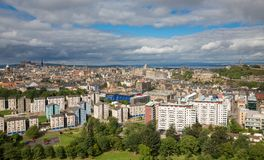 Wide view of Edinburgh skyline Royalty Free Stock Photo