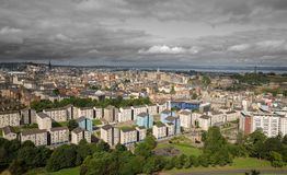 Wide view of Edinburgh skyline Royalty Free Stock Images