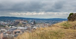 Wide view of Edinburgh skyline Royalty Free Stock Photography